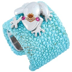 de Grisogono 18 Karat White Gold Stingray Frog Ring