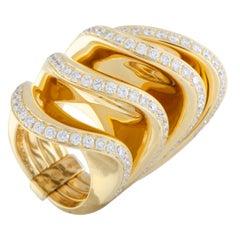 de Grisogono 18 Karat Yellow Gold Diamond Multi-Band Ring