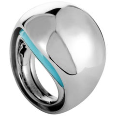 de Grisogono 18 Karat White Gold Turquoise Ring