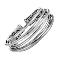 de Grisogono 18 Karat White Gold Wide Bracelet