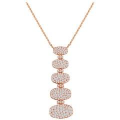 de Grisogono 5 Tier 3.65 Carat Diamond Gold Necklace