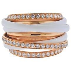 De Grisogono Allegra Rose Gold Ceramic Diamond Ring