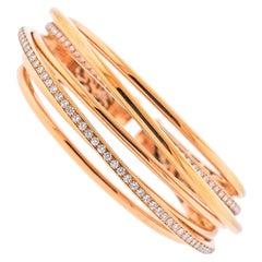 de Grisogono Allegra Rose Gold Diamond Bangle Bracelet