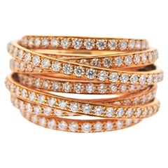 De Grisogono Allegra Rose Gold Diamond Ring 54