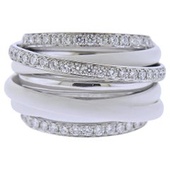 De Grisogono Allegra White Gold Ceramic Diamond Ring