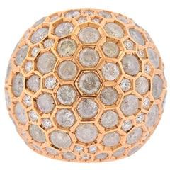 de Grisogono Boule 13.05 Carat Diamond Rose Gold Dome Ring