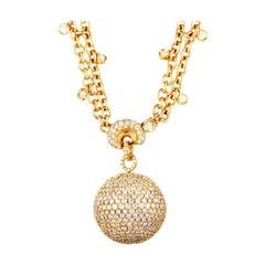 de Grisogono Boule Diamond Yellow Gold Necklace