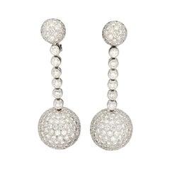de GRISOGONO 'Boule' Diamonds 27.30 Ct Pavé Gold Earrings