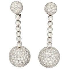 de GRISOGONO 'Boule' Diamonds Pavé Gold Earrings
