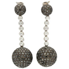 de GRISOGONO Boule Diamonds Pavé Gold Silver Earrings
