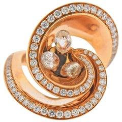 De Grisogono Chiocciolina 2.37 Carat Diamond Gold Ring