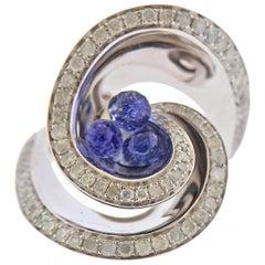 De Grisogono Chiocciolina Diamond Sapphire White Gold Ring