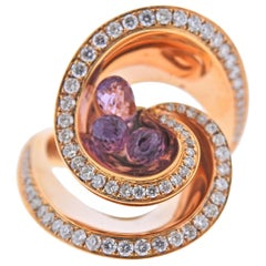 de Grisogono Chiocciolina Rose Gold Amethyst Diamond Ring
