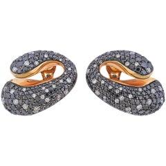De Grisogono Contrario 11.70 Carat Diamond Rose Gold Earrings