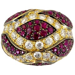De Grisogono Diamond and Ruby Ring