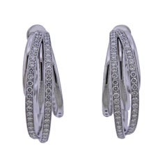 De Grisogono Diamond Gold Allegra Hoop Earrings