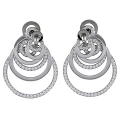 De Grisogono Diamond Interlocking Circle Earrings