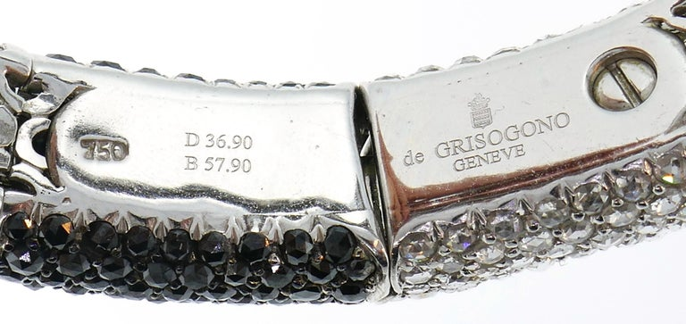 De Grisogono Diamond White Gold Snake Necklace For Sale 3