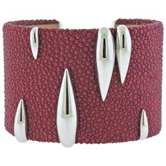 de Grisogono Galuchat Gold Pink Bracelet