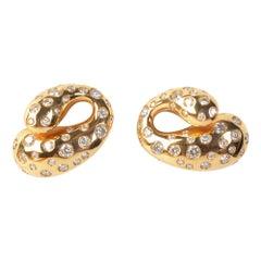 de Grisogono Gold and Diamond Earrings