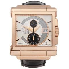 De Grisogono Grande Chrono 18 Karat Rose Gold N02 Wristwatch