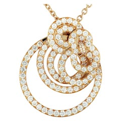 de Grisogono Gypsy 18 Karat Rose Gold Diamond Pendant Necklace