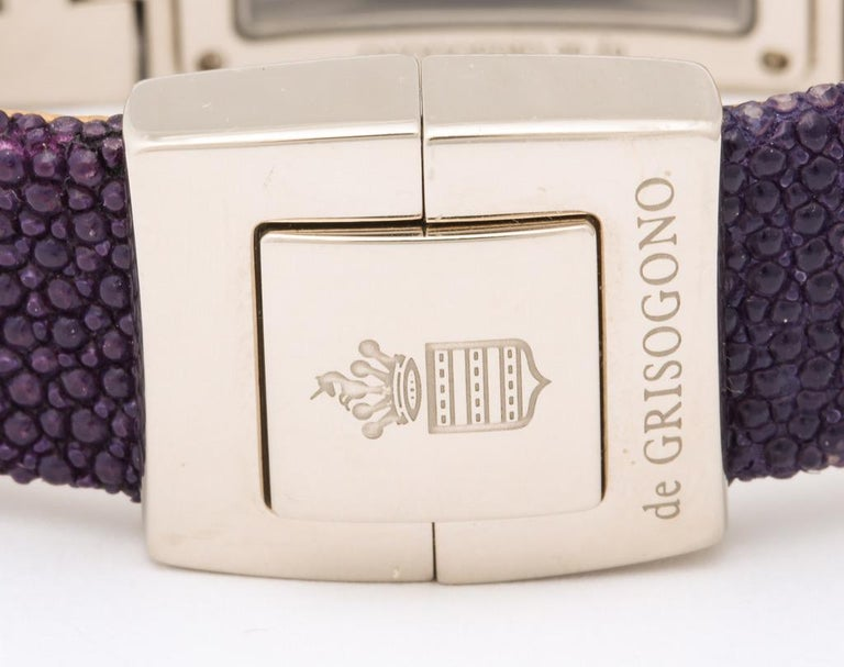 De Grisogono Ladies White Gold Diamond Instrumentino Watch For Sale 6