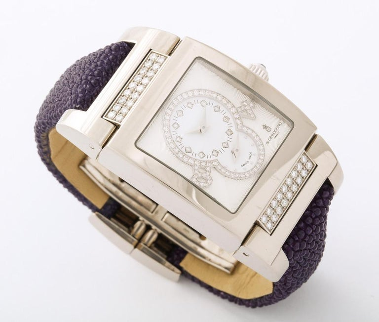 De Grisogono Ladies White Gold Diamond Instrumentino Watch In Excellent Condition For Sale In Bal Harbour, FL