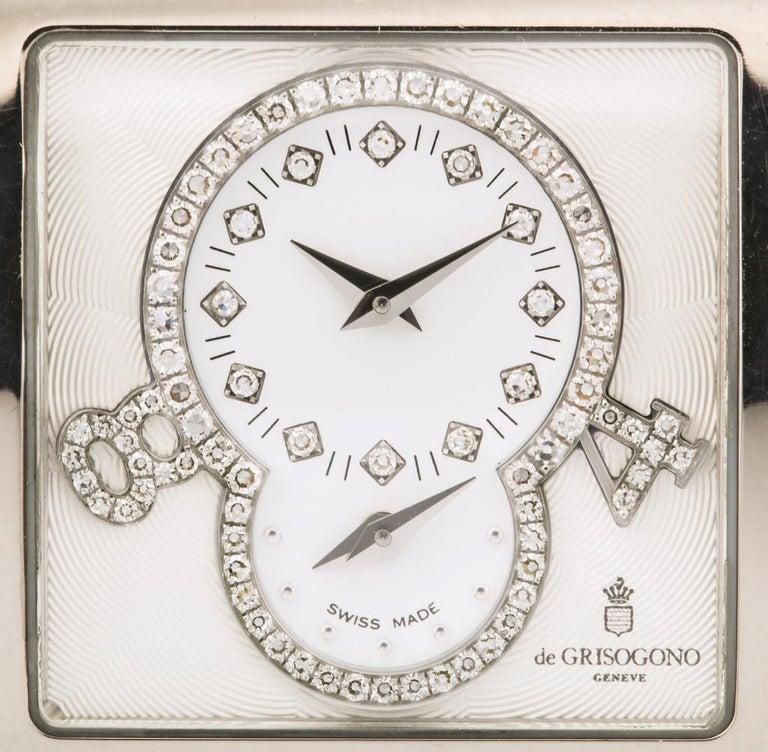 De Grisogono Ladies White Gold Diamond Instrumentino Watch For Sale 1