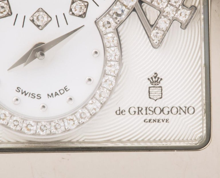 De Grisogono Ladies White Gold Diamond Instrumentino Watch For Sale 2