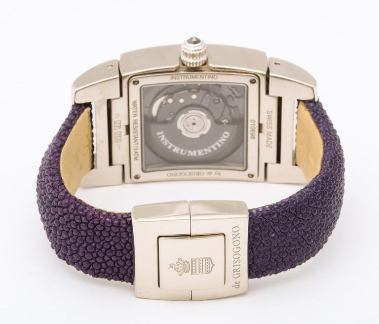 De Grisogono Ladies White Gold Diamond Instrumentino Watch For Sale 3