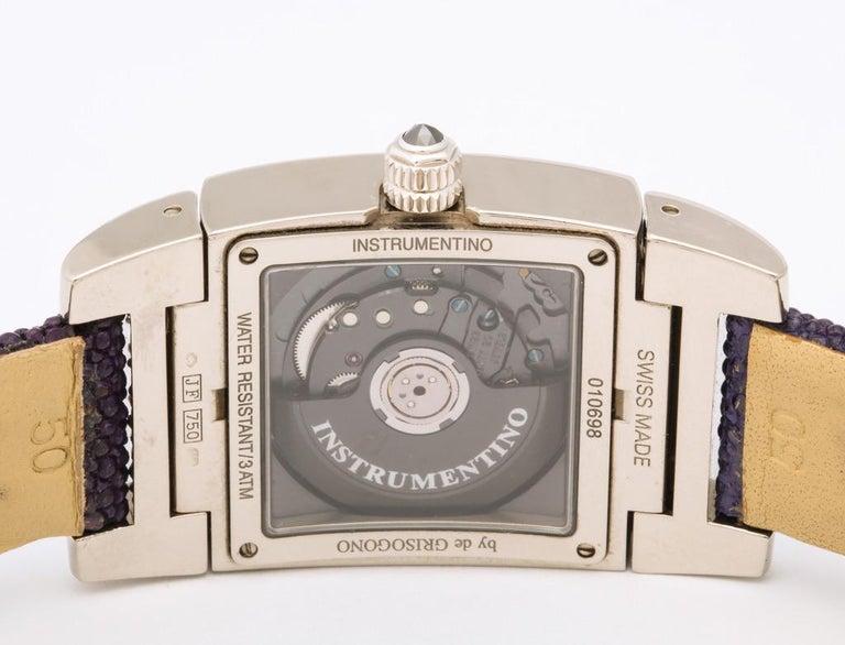 De Grisogono Ladies White Gold Diamond Instrumentino Watch For Sale 4