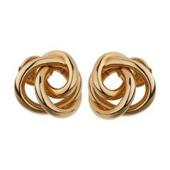 De Grisogono Love Knot Rose Gold Stud Earrings