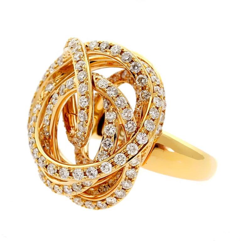 Women's De Grisogono Matassa Diamond Rose Gold Ring For Sale
