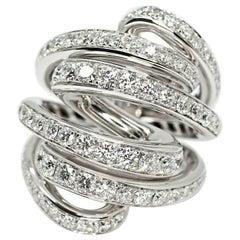 De Grisogono Nouvelle Vortice Collection 18 Karat Diamond Cocktail Ring