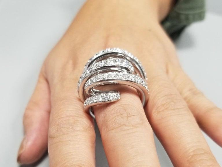 De Grisogono Nouvelle Vortice Collection 18 Karat Diamond Cocktail Ring For Sale 5