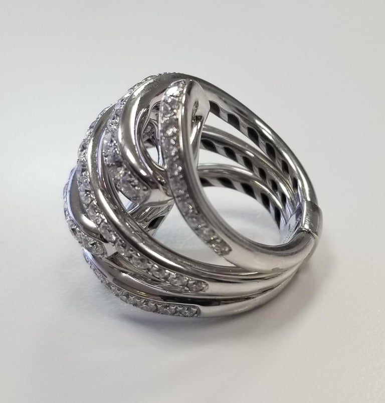 Modern De Grisogono Nouvelle Vortice Collection 18 Karat Diamond Cocktail Ring For Sale