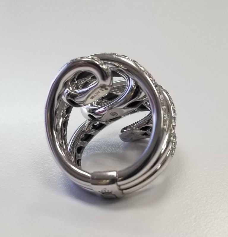 Round Cut De Grisogono Nouvelle Vortice Collection 18 Karat Diamond Cocktail Ring For Sale