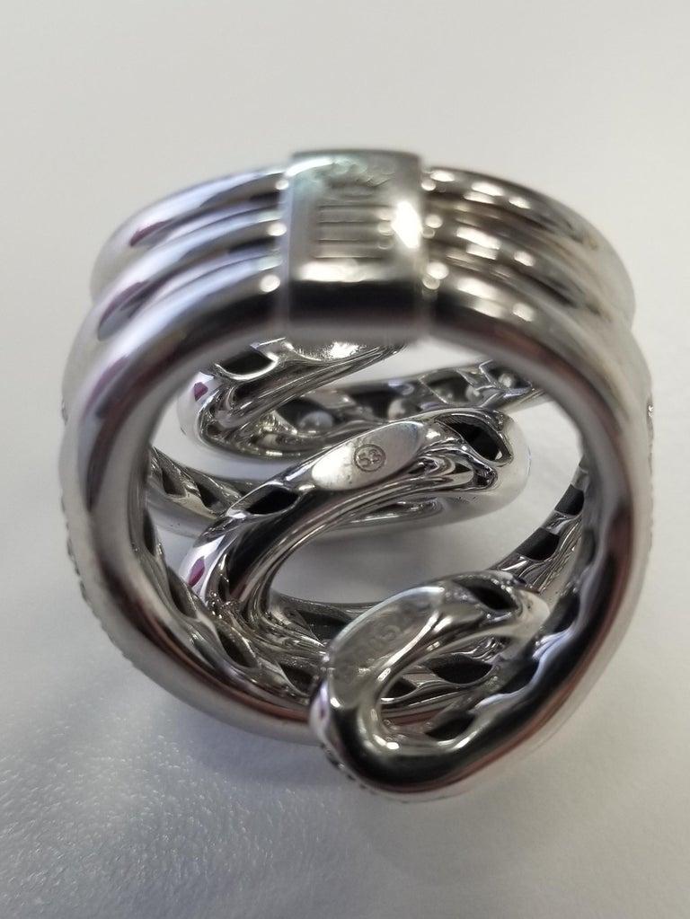 De Grisogono Nouvelle Vortice Collection 18 Karat Diamond Cocktail Ring For Sale 1