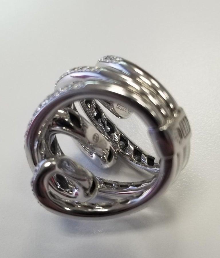 De Grisogono Nouvelle Vortice Collection 18 Karat Diamond Cocktail Ring For Sale 2