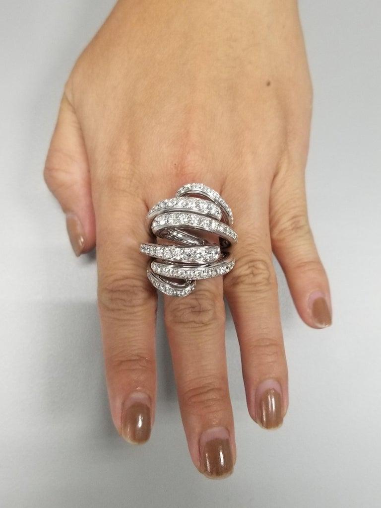 De Grisogono Nouvelle Vortice Collection 18 Karat Diamond Cocktail Ring For Sale 3