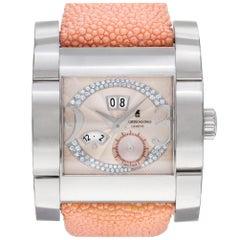 De Grisogono Novecento NO3 Stainless Steel Pink Diamond Dial Automatic