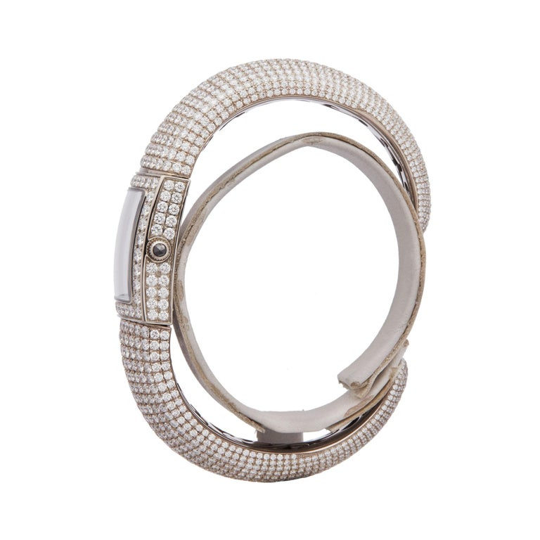 De Grisogono Piccolina 18K White Gold S14B Wristwatch In New Condition For Sale In Bishops Stortford, Hertfordshire