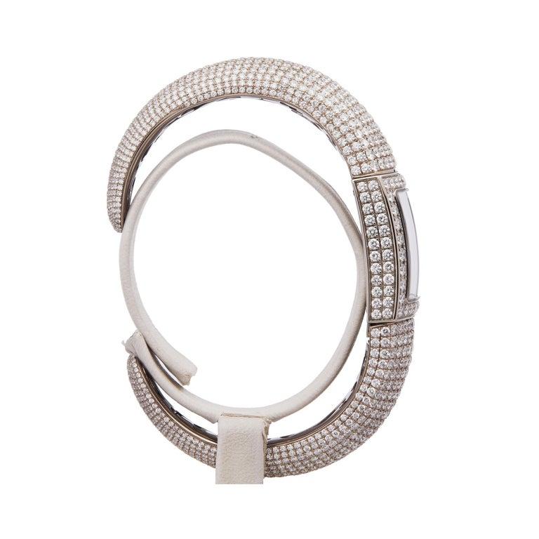 Women's or Men's De Grisogono Piccolina 18K White Gold S14B Wristwatch For Sale
