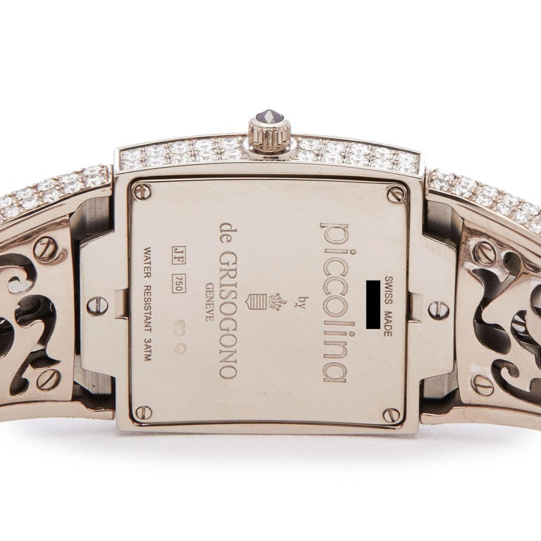 De Grisogono Piccolina 18K White Gold S14B Wristwatch For Sale 2