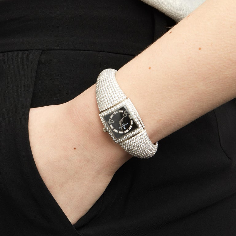 De Grisogono Piccolina 18K White Gold S14B Wristwatch For Sale 4