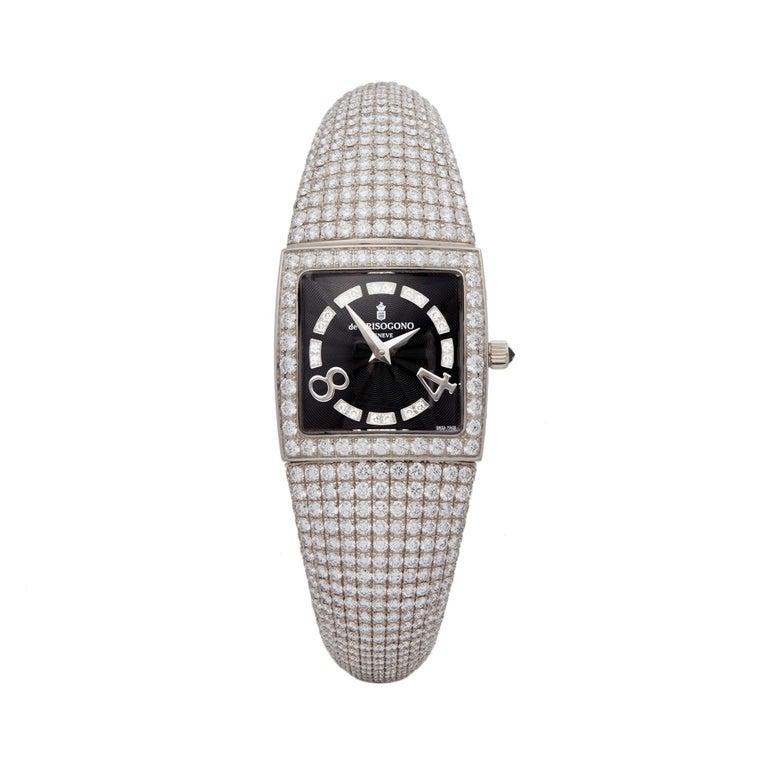 De Grisogono Piccolina 18K White Gold S14B Wristwatch For Sale