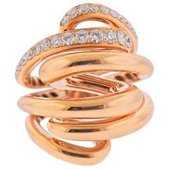 De Grisogono Vortice 1.45 Carat Diamond Rose Gold Ring 54