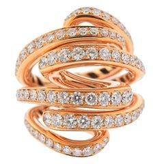 De Grisogono Vortice 4.45 Carat Diamond Gold Ring