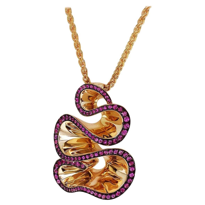 De Grisogono Zigana Rose Gold Pendant Necklace